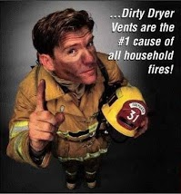 Fireman talking about fire safety and dryer vents