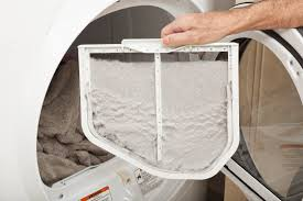 image of a dryer screen with lint