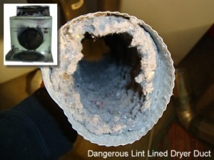 dryer vent clogged with lint