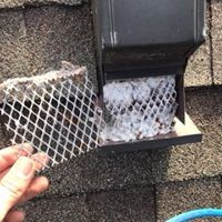 clogged dryer vent on house roof